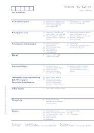 Fischer Papier AG - Preisliste