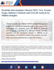 Pesticide Intermediates Market 2022- New Trends, Scope, Industry Outlook and Growth Analysis by Million Insights