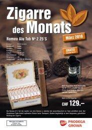 Zigarre des Monats März