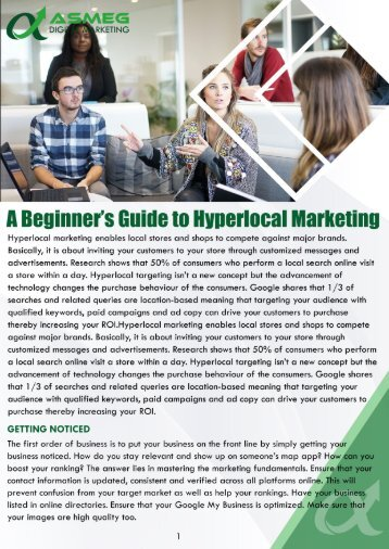 A Beginner's Guide to Hyperlocal Marketing