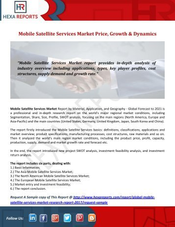 Mobile Satellite Services Market Price, Growth & Dynamics