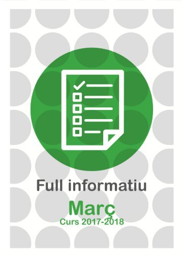 Full informatiu MARÇ 2018