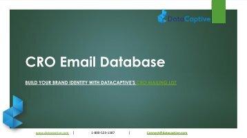 CRO Email Database