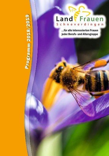 Landfrauen Schneverdingen - Programm 2018/19