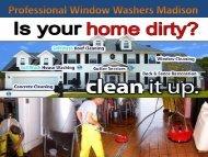 Professional window washers madison