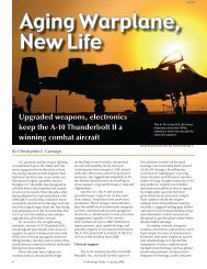 Aging Warplane, New life - Southwest Research Institute