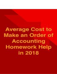 Average Cost to Make an Order of Accounting Homework Help in 2018