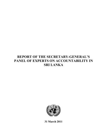 UN Report on Srilanka war crime