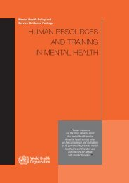11_Human resource and training in MH_07.qxd - World Health ...