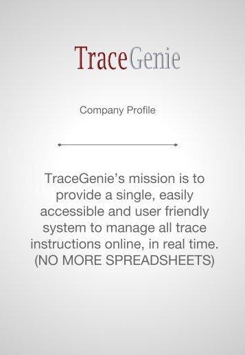 TraceGenie Company Profile and Pricing _2017B