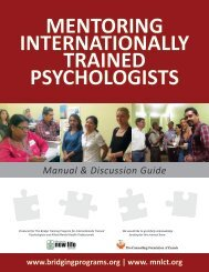 Mentoring Internationally Trained Psychologists - Mennonite New ...