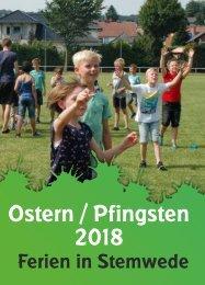 Ferienprogramm Ostern/Pfingsten 2018
