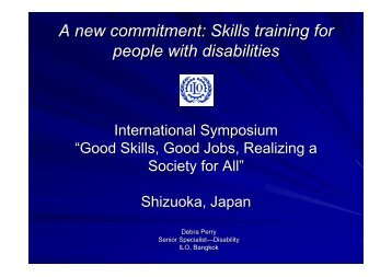 A new commitment: Skills training for people with disabilities