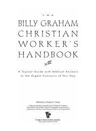 The Billy Graham Christian Worker's Handbook - The Ranch