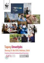 Tagung Umweltjobs - Dienstag, 29. Mai 2018 im Volkshaus Zürich