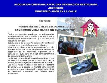 INFORME ENTREGA DE UTILES 2018 - ASCRIGERE