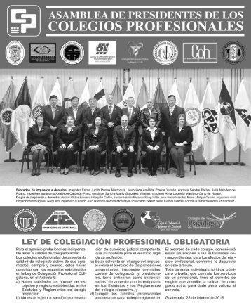 Asamblea de presidentes de los colegios profesionales - 28 de febrero de 2018 2