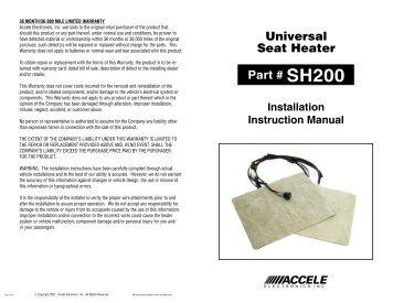 SH200 Installation Instruction Manual