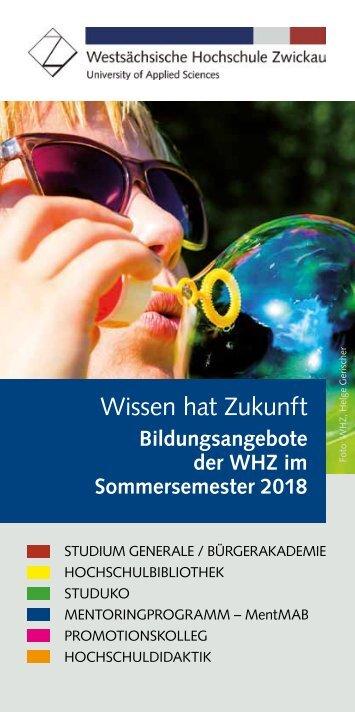 Wissen hat Zukunft Sommersemester 2018