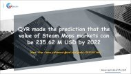 QYR made the prediction that the value of Steam Mops markets can be 235.62 M USD by 2022