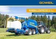 Rundballenpresse & Press-Wickelkombination | G-1 F125 | G5040 Kombi | Göweil