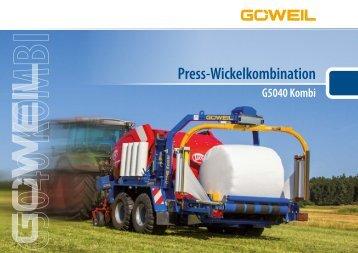 Press Wickelkombination als Anbau | G5040 Kombi | Göweil