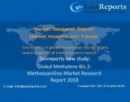 Global Methylene Bis 2-Methoxyaniline Market Research Report 2018