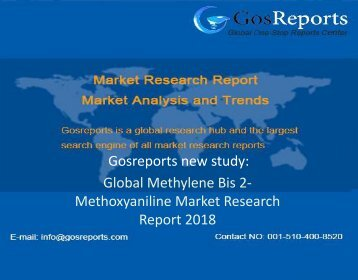 Global Methylene Bis 2-Methoxyaniline Market Research Report 2018