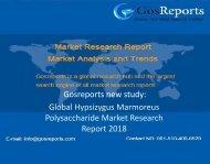 Global Hypsizygus Marmoreus Polysaccharide Market Research Report 2018