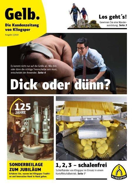 Gelb. Die Kundenzeitung von Klingspor - Ausgabe 1 2018