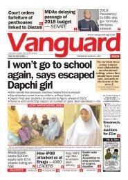 01032018 - I won't go to school again, says escaped Dapchi girl