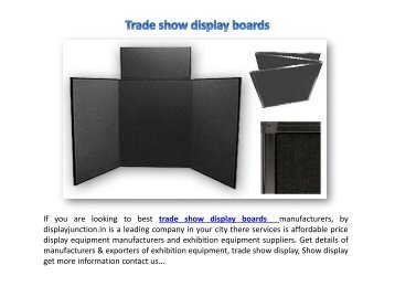 Exhibit trade show booth display