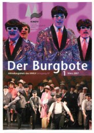 Der Burgbote 2007 (Jahrgang 87)
