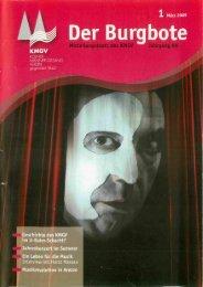 Der Burgbote 2009 (Jahrgang 89)