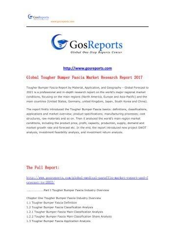 Global Tougher Bumper Fascia Market Research Report 2017