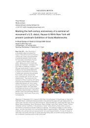 Press Release - Hauser & Wirth