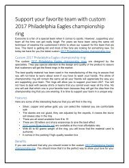 Custom 2017 Philadelphia Eagles championship ring