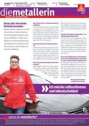 die metallerin 13 - Regionalausgabe Hamburg