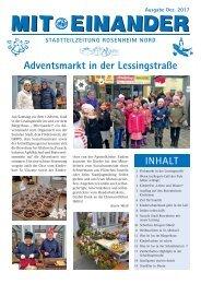 Stadtteilzeitung Rosenheim Nord - Ausgabe Dezember 2017