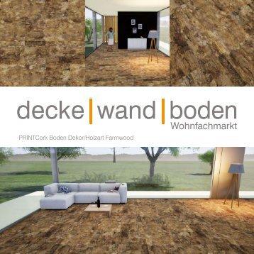 dwb Produktinformation PrintCork Boden Farmwood