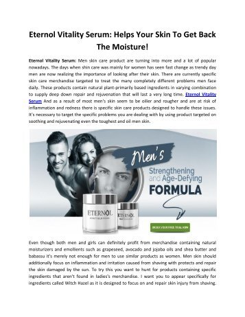 Eternol Vitality Serum: Enhance Your Mental Focus!