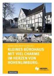 KLEINES BÜROHAUS MIT VIEL CHARME IM HERZEN VON HOHENLIMBURG