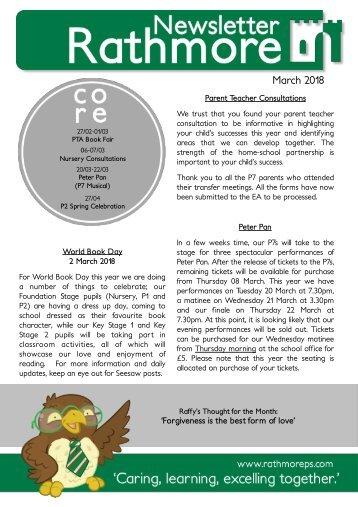 March Newsletter 2018