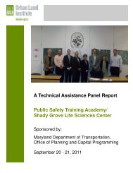 A Technical Assistance Panel Report Public Safety Training ...