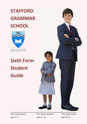 SIXTH FORM STUDENT GUIDE 2018