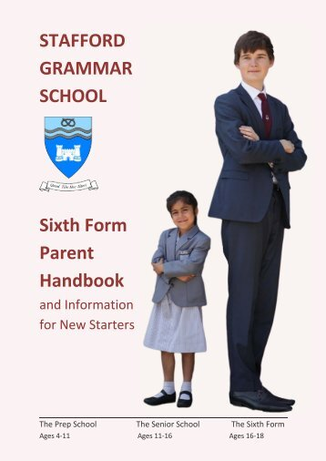 SIXTH FORM Parent Handbook 2018