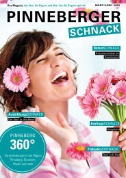 PINNEBERGER SCHNACK März/April 2018