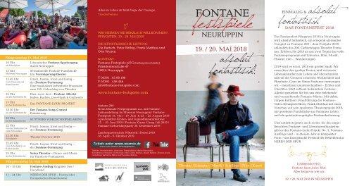 Die Fontane-Festspiele 2018 - Absolut FONTASTISCH