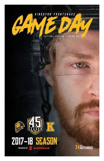 Kingston Frontenacs GameDay March 2, 2018