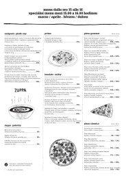 Siesta menu